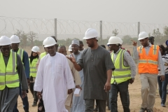 Hon. Minister's Touring the BUK Site