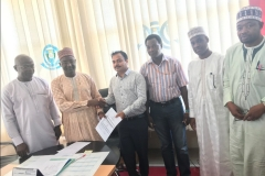 Actual Site Handover by Prof. Ibrahim (V.C) to Project Manager SaudagarKangude of SWNL