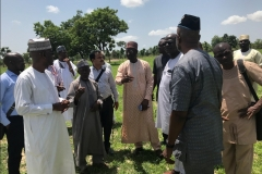 Prof. Ibrahim (V.C) with the Project Team Members from REA, NUC, SWNL and the University at the Project Site