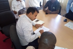 Project Manager SaudagarKangude of SWNL signing Site Handover Form