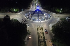 Aerial view of the streetlight along Muritala Muhammed way