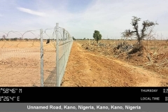 After Site Preparations (Fencing Completed)