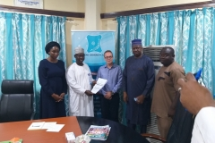 Presentation of the signed site handover form to the Deputy Vice-Chancellor BUK