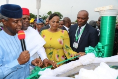 Commissioning of Solar Hybrid Project at Alex Ekwueme Federal University Dufu –Alike Ikwo, Ebonyi State by His Excellency Prof. Yemi Osinbajo ,Vice President Federal Republic of Nigeria   .Date 2nd August 2019.