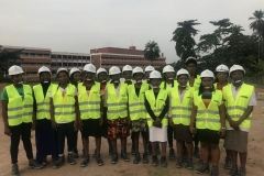 Group Picture with the STEM students after the Site Tour