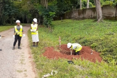 OAU-Excavation-of-Street-lighting-base-by-STEM-Students