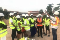 REA Resident Engr. Responding to the Students_ and Dean_s Questions During the Site Tour