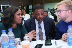 Damilola Ogunbiyi, MD/CEO of REA; Honourable Minister of State, Power, Goddy Jedy-Agba and the Chief Executive Officer,All On, Dr. Wieber Boer