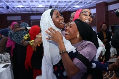 Winner of the Project Shark Tank ,Bayero University Kano Students, jubilating after being declared as winner at the Rural Electrification  Energizing Education Programme female Stem Workshop in Lagos