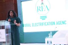 REA MD/CEO, Mrs Damilola Ogunbiyi during the Rural Electrification  Energizing Education Programme female Stem Workshop in Lagos