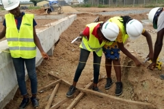 Training in the marking of foundation layout points for the cable trenches(1)