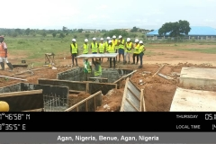 Training on the installation of transformer foundation plinth beam formwork