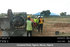Training on the use of concrete mixer and the associated mixing ratios