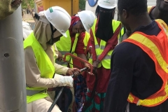 Stem students actively involved in streetlight cables installation @BUK