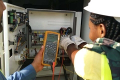 FUNAI-STEM-students-helping-in-measuring-balanced-voltage-from-site-generating-set