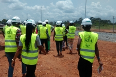 STEM Students Touring site in AE-FUNAI