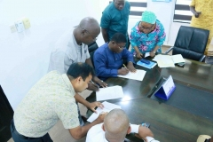 Handover Document Signing Session
