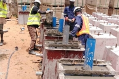 Base casting for street lighting plinths ongoing @UDUS