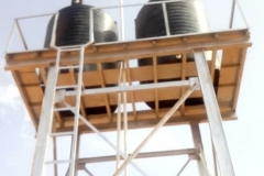 Overhead Bore Hole Water Tank Completed