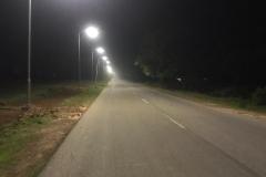 Newly commissioned streetlights along gongola road @BUK