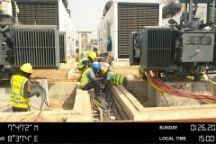 CONNECTION-OF-EARTHING-COPPER-BAR-LEAD-TO-THE-DG-SET-TRANSFORMERS-IN-PROGRESS.
