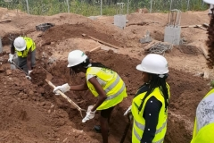 Mechanical STEM Students actively participated in Excavation of WTC  Blocks work Trenches at OAU
