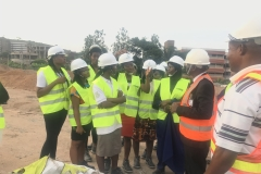 Questions by the STEM students during the Site Tour