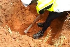 Training on excavation work for street light plinths