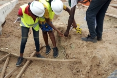 Training in the marking of foundation layout points for the cable trenches(3)