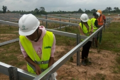 Awka Site - STEM students taking part in the installation of the mounting structures