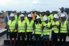 STEM students with EPC guides and REA RE at site