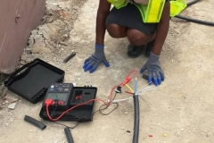 Insulation-resistance-test-of-the-street-light-cables
